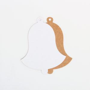 Baza do kartek dzwonek (biało-brązowa)