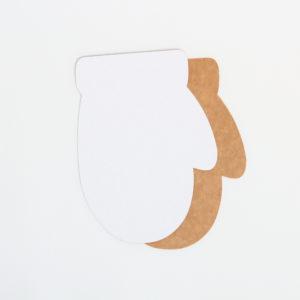 """Baza do kartek rękawiczka """"okrągła"""" (biało-brązowa)"""
