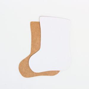 Baza do kartek skarpeta (biało-brązowa)