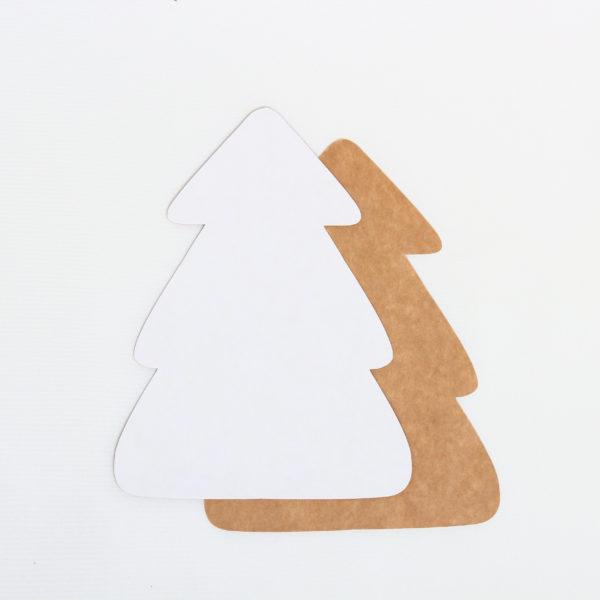 Baza do kartek choinka (biało-brązowa)