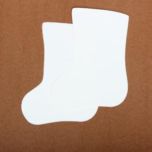 """Baza do kartek skarpeta (""""biało-biała"""")"""