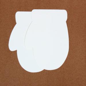"""Baza do kartek rękawiczka """"okrągła"""" (""""biało-biała"""")"""