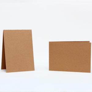 Baza do kartek 105×150 z brązowej tektury