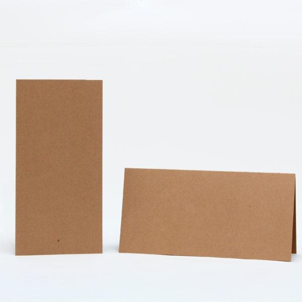 Baza do kartek 210×105 z brązowej tektury
