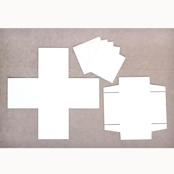 exploding box 10x10x10 (biało-brązowa)