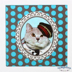 Serwetka Z01 – kot w czapce