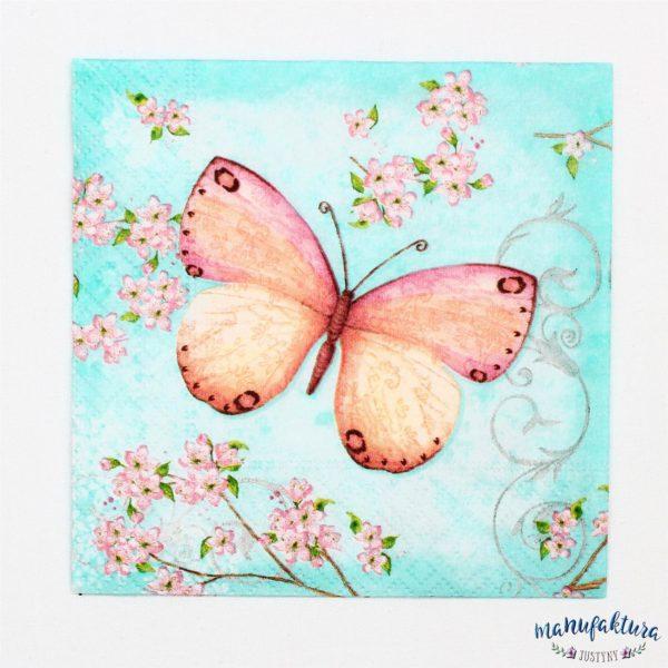 Serwetka mała O03 – motylek