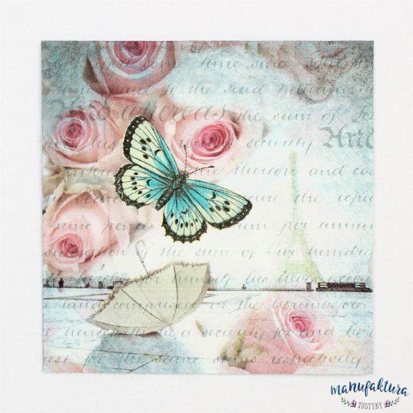 Serwetka mała O04 – motylek