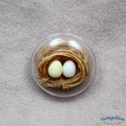 Jajko przepiórcze – styropian (jasno-żółte)