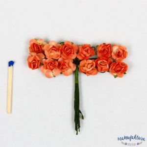 Papierowe różyczki – pomarańczowe 12 szt.