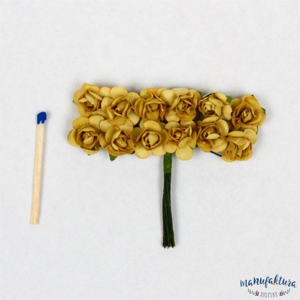 Papierowe różyczki – zielone 12 szt.
