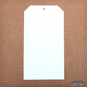tag prostokątny (biało-brązowy)