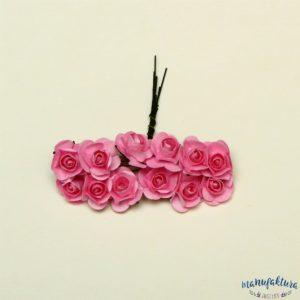 Papierowe różyczki – różowe (2 cm) 12 szt.