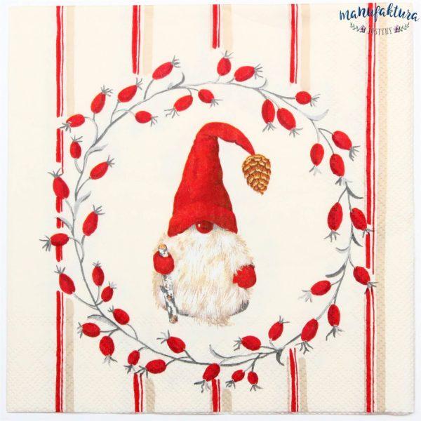 Serwetka BN23 – świąteczny gnom