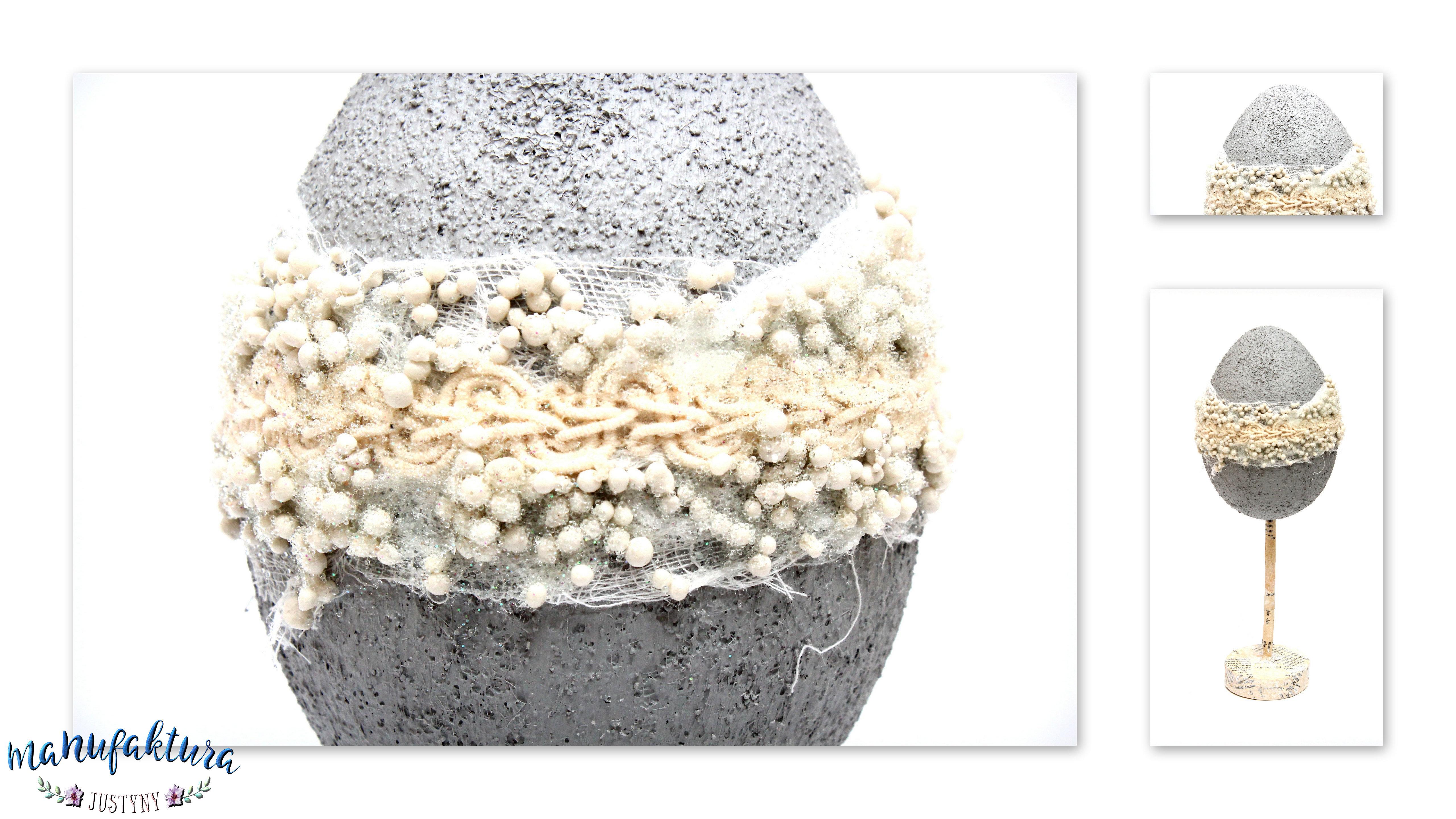 jajo wielkanocne z efektem betonu
