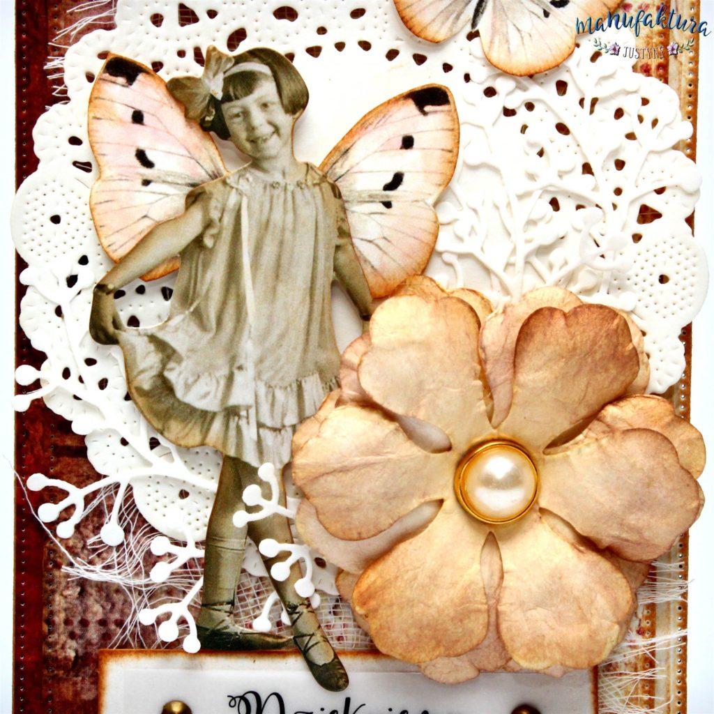 retro kartka paper doll Tim holtz