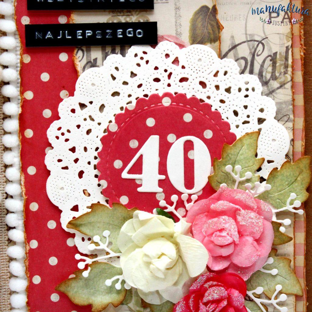 Kartka na 40 urodziny